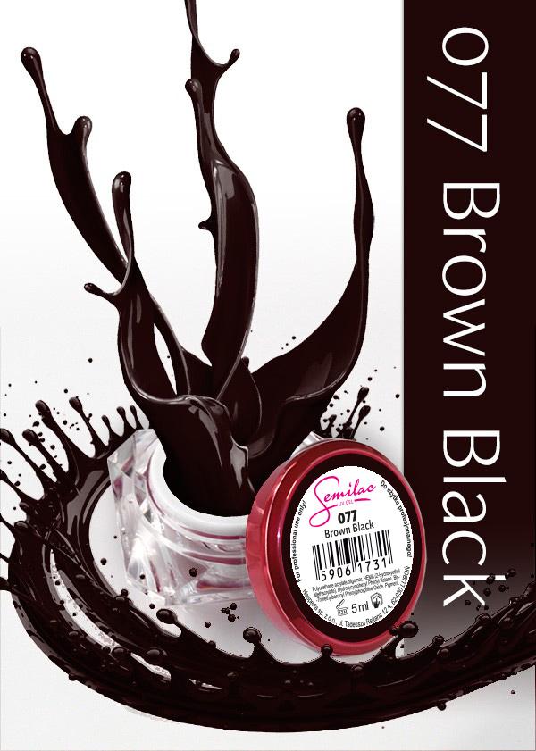 Gel Uv Color Semilac, Brown Black 077 imagine produs