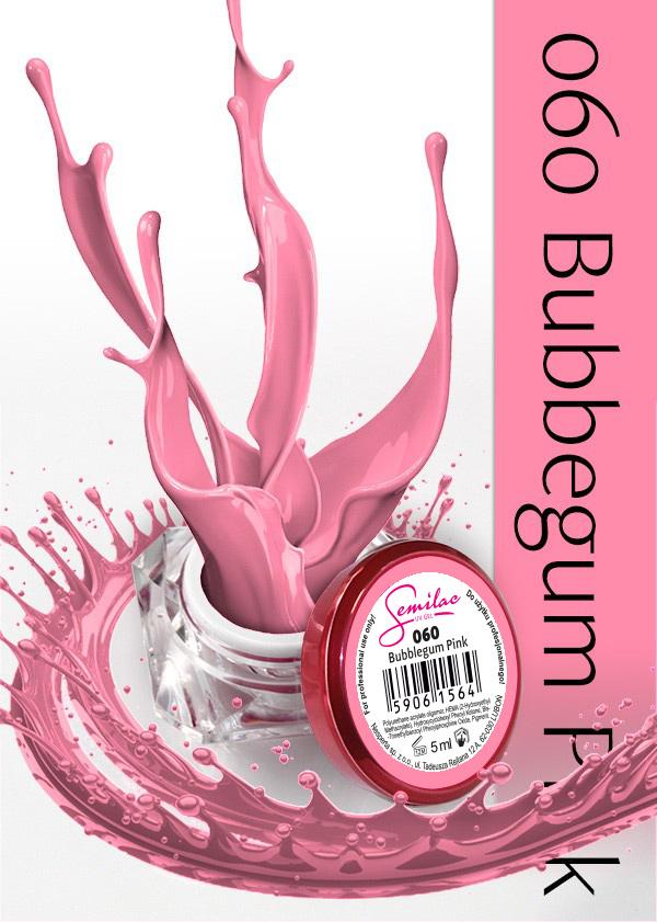 Gel Uv Color Semilac, Bubblegum Pink 060 imagine produs
