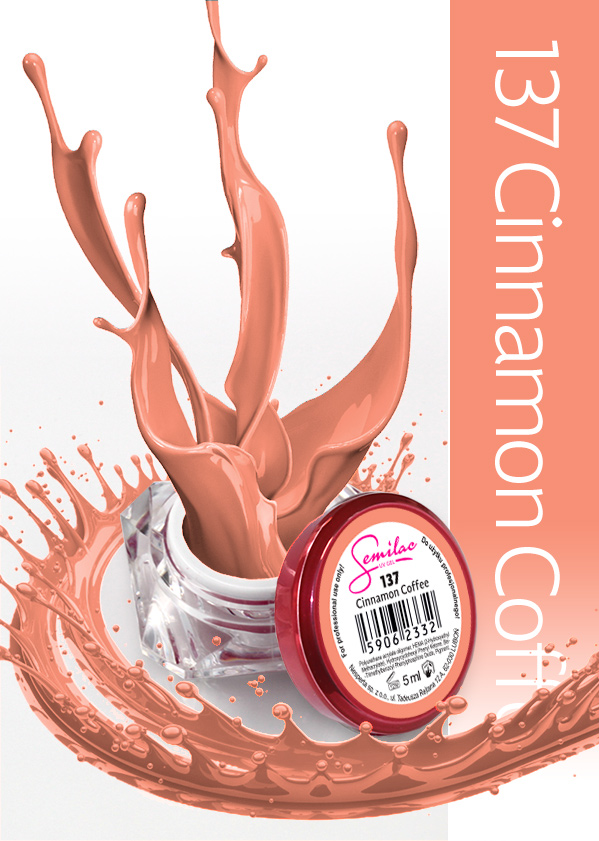Gel Uv Color Semilac, Cinnamon Coffee 137 imagine produs