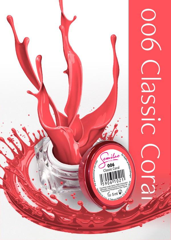 Gel Uv Color Semilac, Classic Coral 006 imagine produs