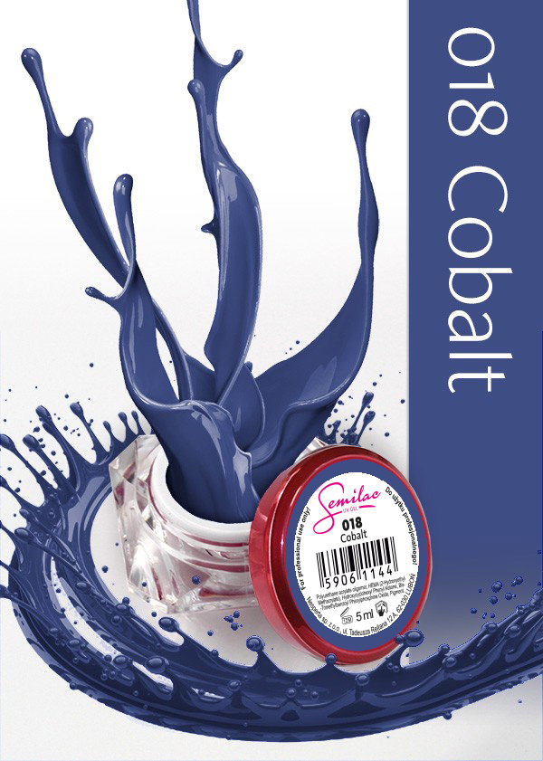 Gel Uv Color Semilac, Cobalt 018 imagine produs
