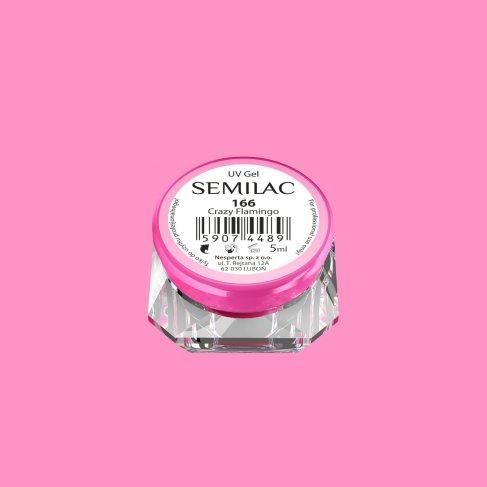 Gel Uv Color Semilac, Crazy Flamingo 166 imagine produs