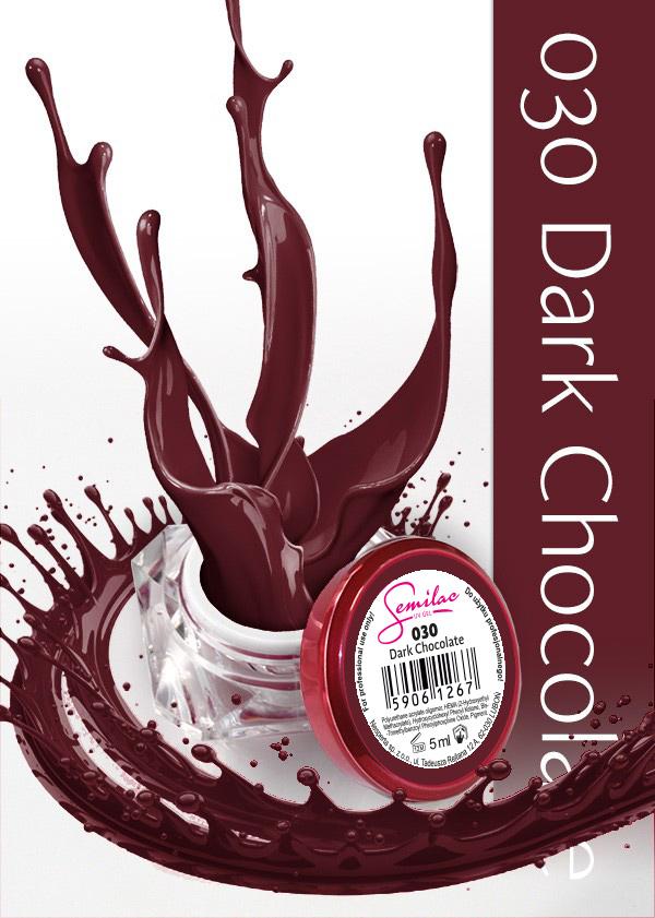 Gel Uv Color Semilac, Dark Chocolate 030 imagine produs