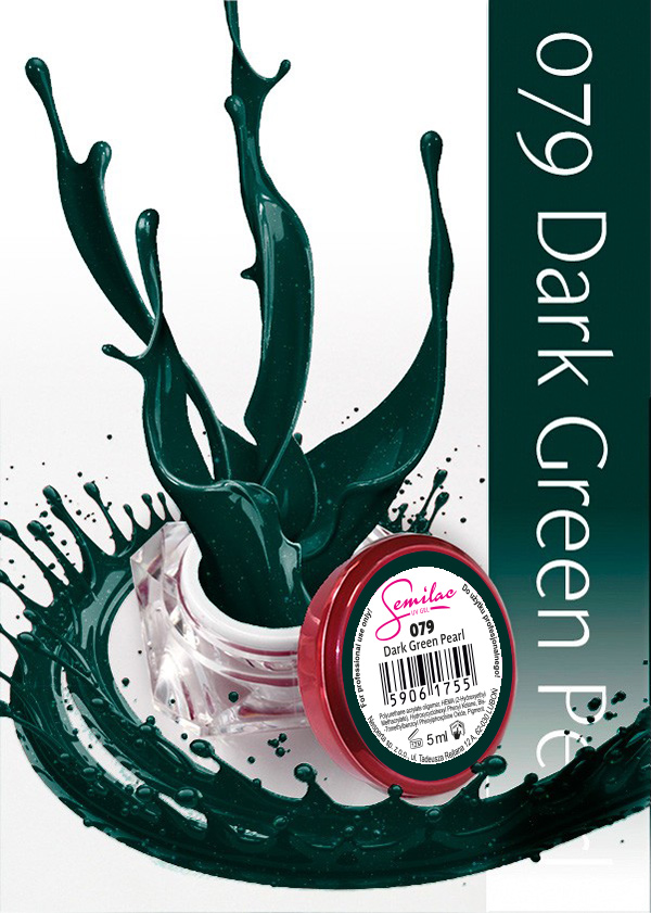 Gel Uv Color Semilac, Dark Green Pearl 079 imagine produs