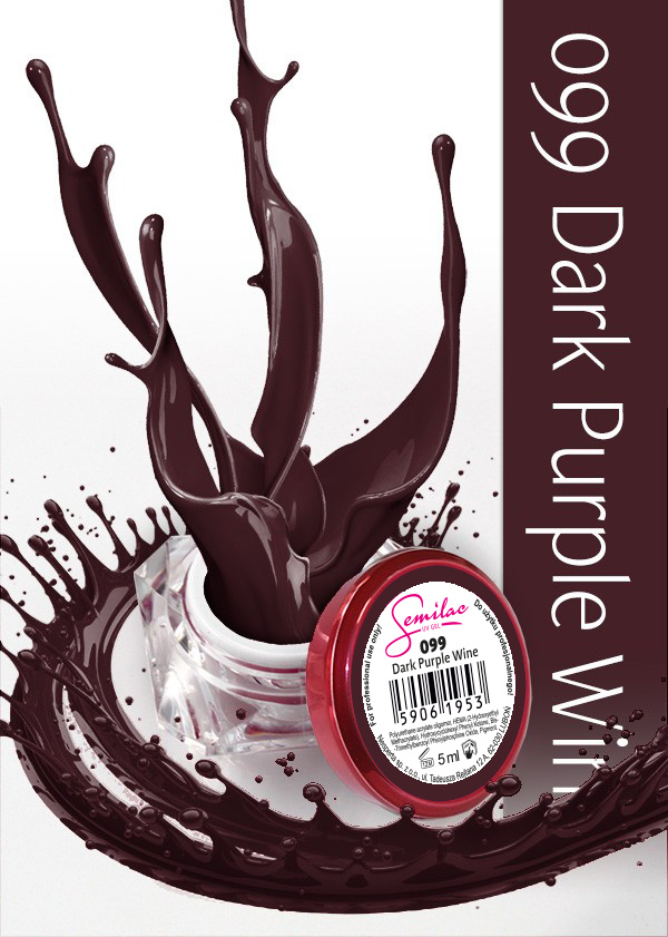 Gel Uv Color Semilac, Dark Purple Wine 099 imagine produs