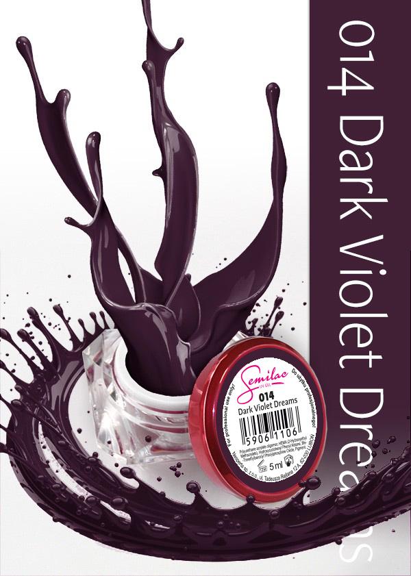 Gel Uv Color Semilac, Dark Violet Dreams 014 imagine produs