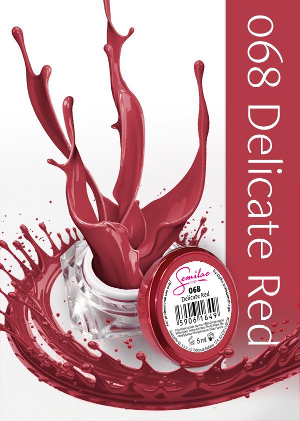 Gel Uv Color Semilac, Delicate Red 068 imagine produs