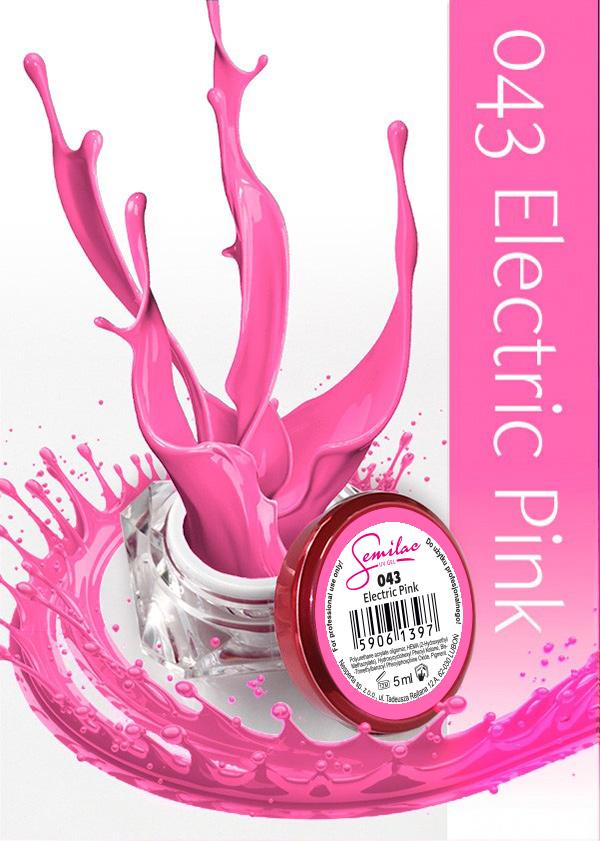 Gel Uv Color Semilac, Electric Pink 043 imagine produs