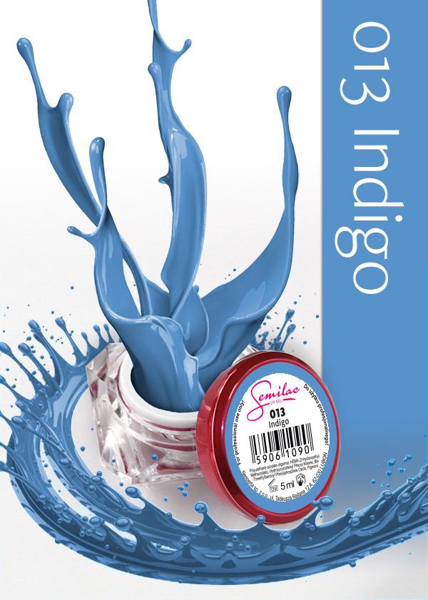 Gel Uv Color Semilac, Indigo 013 imagine produs