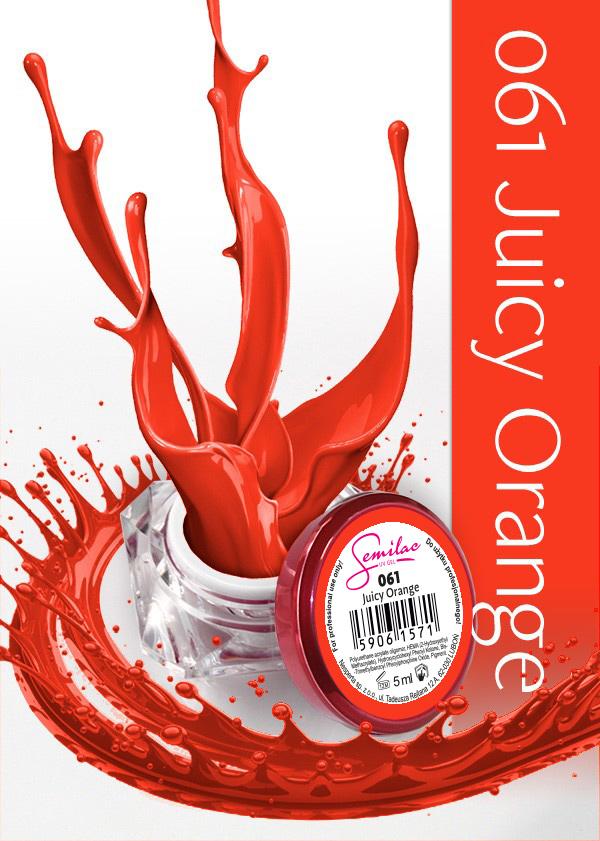 Gel Uv Color Semilac, Juicy Orange 061 imagine produs