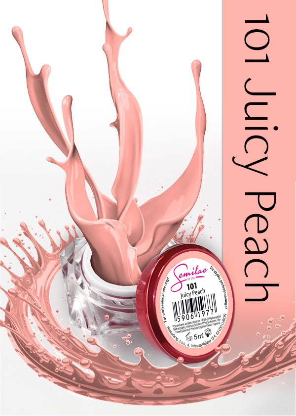 Gel Uv Color Semilac, Juicy Peach 101 imagine produs