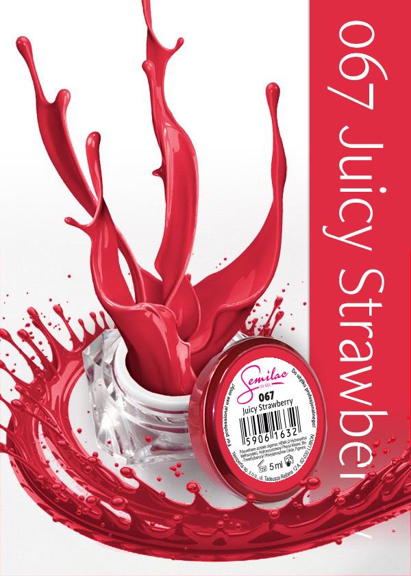Gel Uv Color Semilac, Juicy Strawberry 067 imagine produs