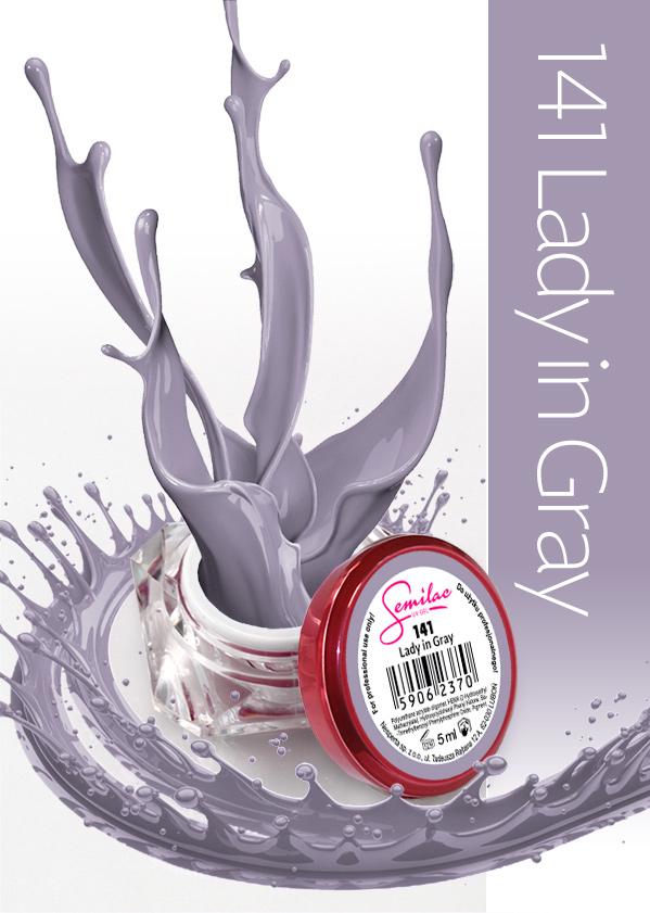 Gel Uv Color Semilac, Lady In Grey 141 imagine produs
