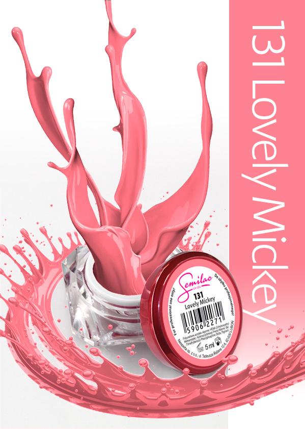 Gel Uv Color Semilac, Lovely Mickey 131 imagine produs
