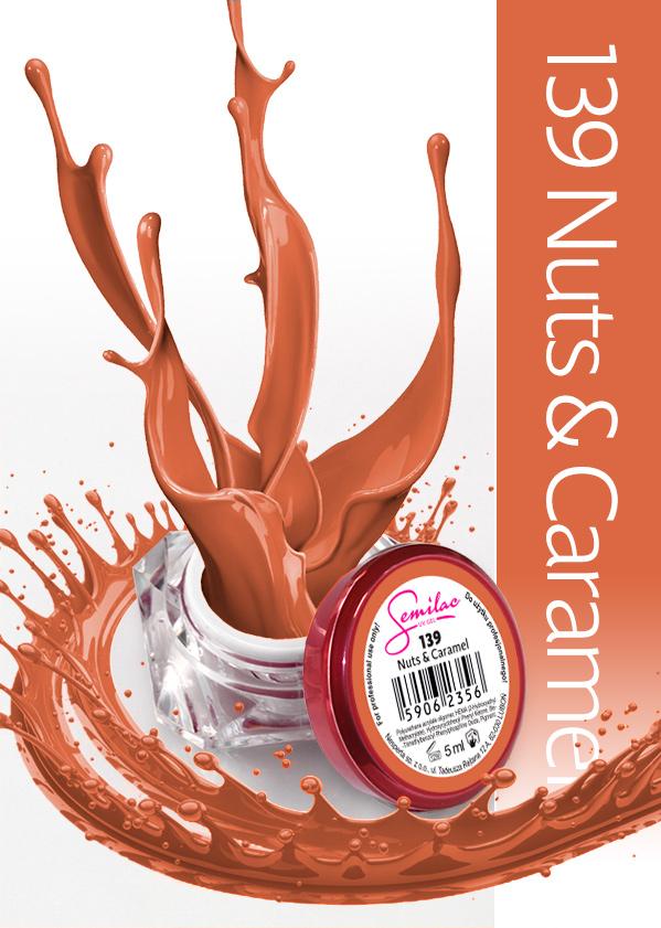 Gel Uv Color Semilac, Nuts & Caramel 139 imagine produs