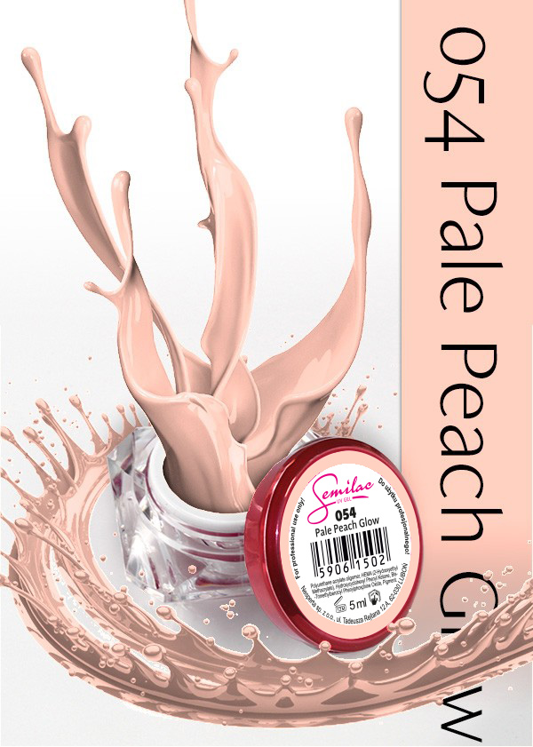 Gel Uv Color Semilac, Pale Peach Glow 054 imagine produs
