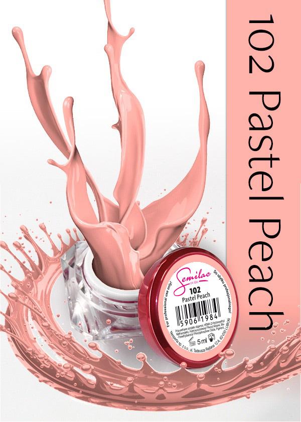 Gel Uv Color Semilac, Pastel Peach 102 imagine produs