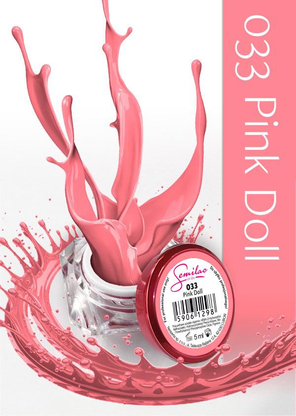 Gel Uv Color Semilac, Pink Doll 033 imagine produs