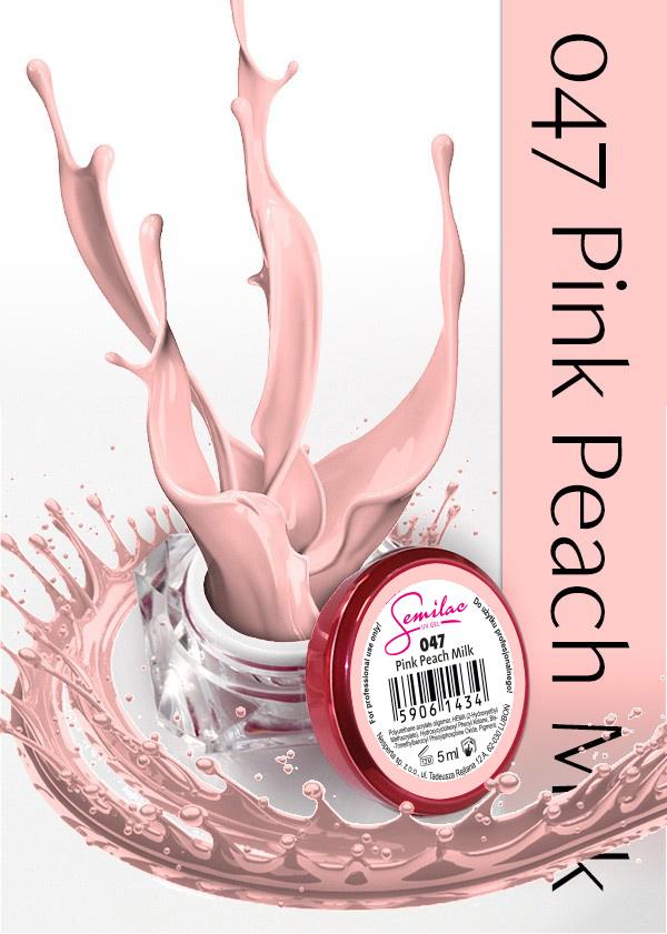 Gel Uv Color Semilac, Pink Peach Milk 047 imagine produs