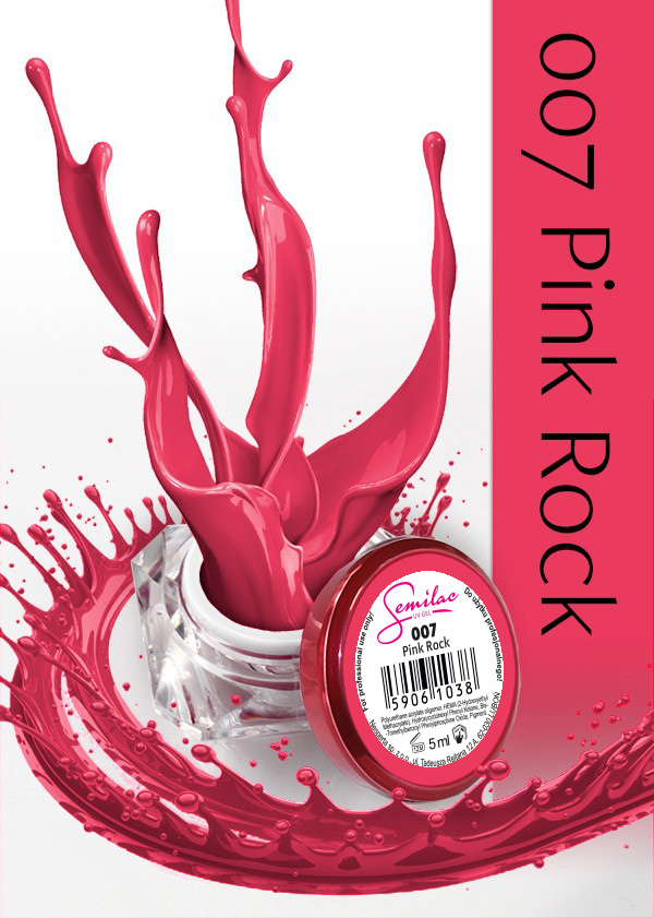 Gel Uv Color Semilac, Pink Rock 007 imagine produs