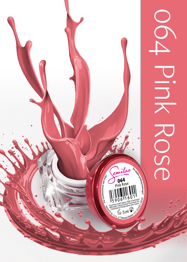 Gel Uv Color Semilac, Pink Rose 064 imagine produs