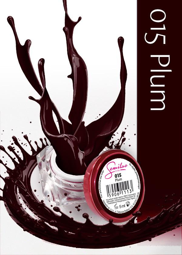 Gel Uv Color Semilac, Plum 015 imagine produs