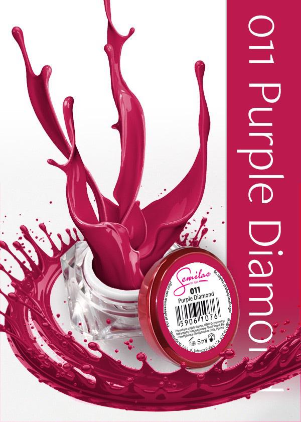 Gel Uv Color Semilac, Purple Diamond 011 imagine produs