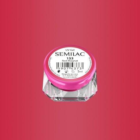 Gel Uv Color Semilac, Red Magnat 153 imagine produs