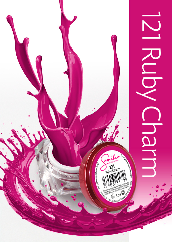 Gel Uv Color Semilac, Ruby Charm 121 imagine produs