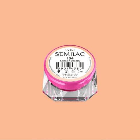 Gel Uv Color Semilac, Salmon Dream 154 imagine produs