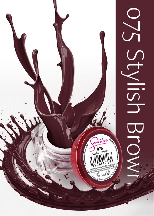 Gel Uv Color Semilac, Stylish Brown 075 imagine produs