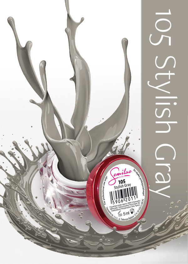 Gel Uv Color Semilac, Stylish Grey 105 imagine produs