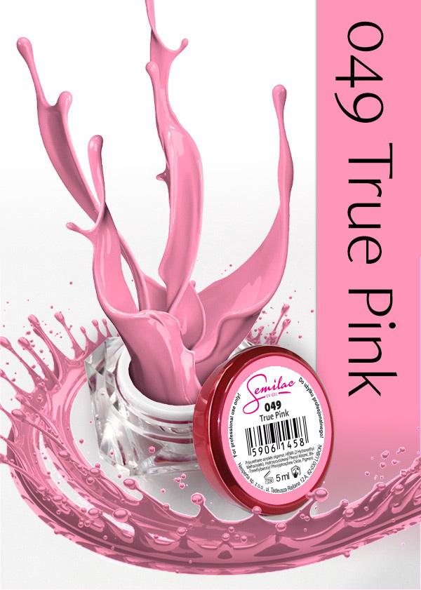 Gel Uv Color Semilac, True Pink 049 imagine produs