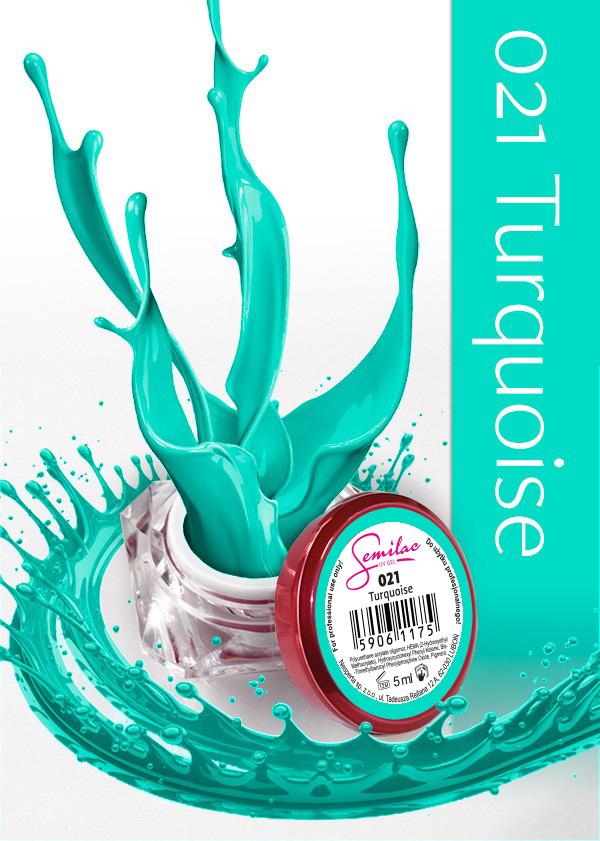 Gel Uv Color Semilac, Turquoise 021 imagine produs