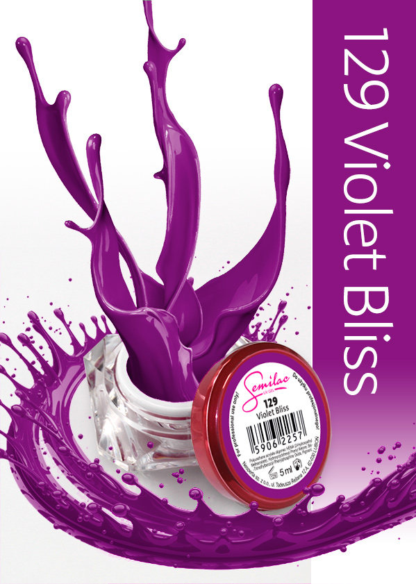 Gel Uv Color Semilac, Violet Bliss 129 imagine produs