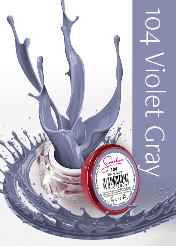 Gel Uv Color Semilac, Violet Grey 104 imagine produs