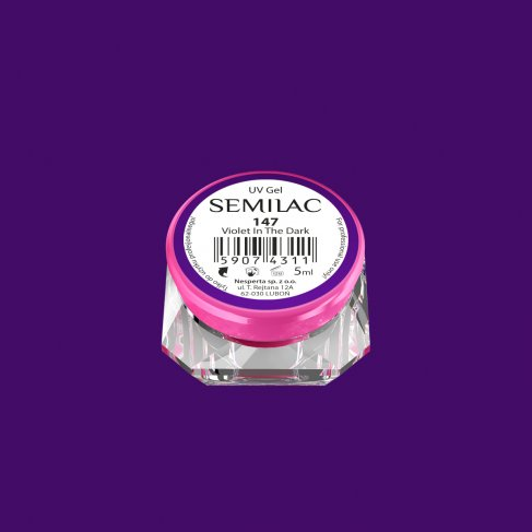 Gel Uv Color Semilac, Violet In The Dark 147 imagine produs