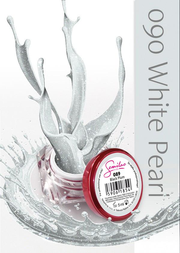 Gel Uv Color Semilac, White Pearl 090 imagine produs