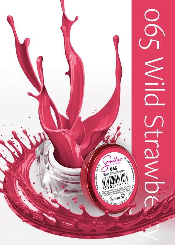 Gel Uv Color Semilac, Wild Strawberry 065 imagine produs
