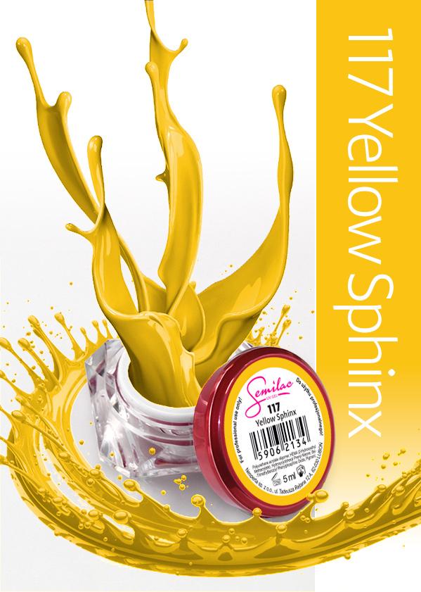 Gel Uv Color Semilac, Yellow Sphinx 117 imagine produs