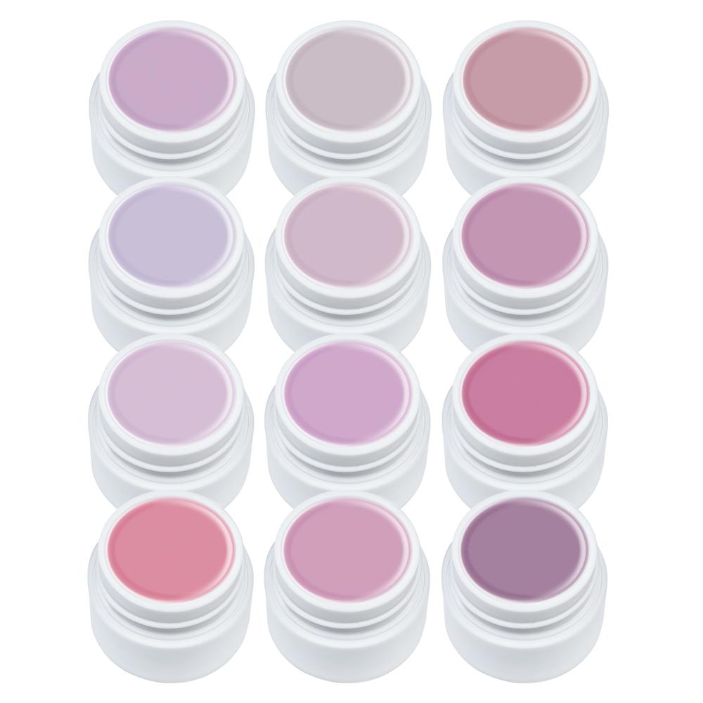 Set Gel UV color - 12 bucati - Lila Rossa - Nude