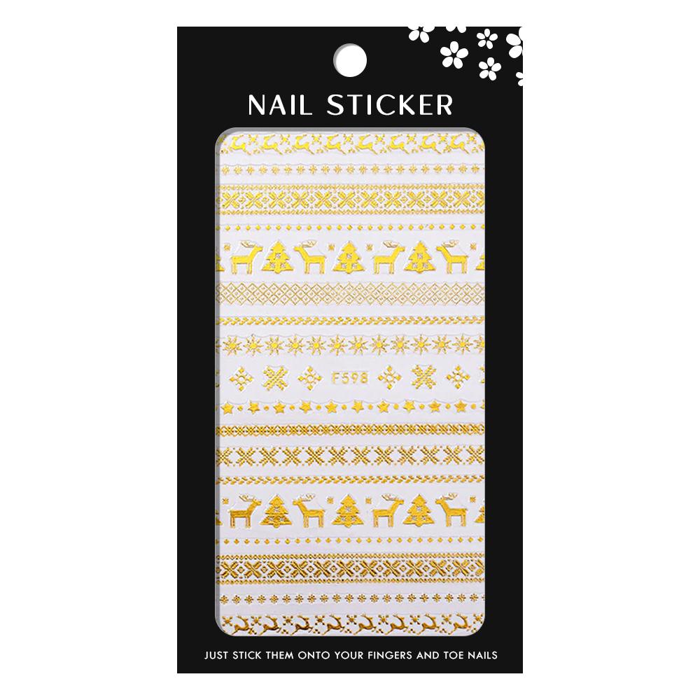 Sticker Nail Art F598-Gold imagine produs