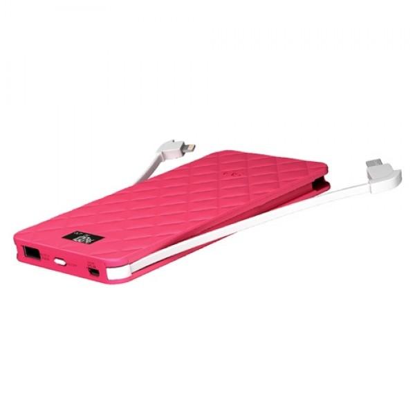 Acumulator extern roz, 6000 mAh, iWalk Extreme Trio