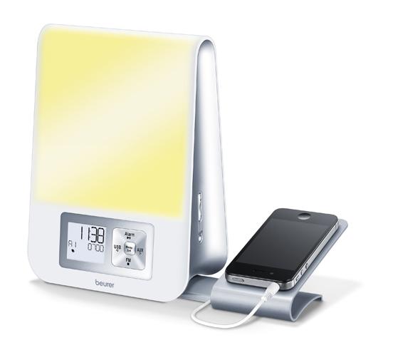 Ceas deșteptător cu lampă Beurer WL80