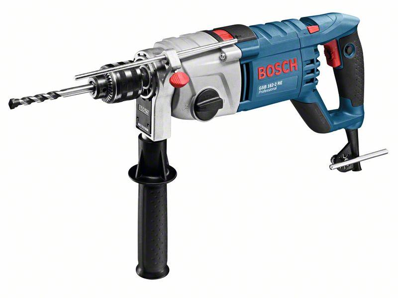 Mașină de găurit cu percuție profesională Bosch GSB 162-2 RE, 1500 W, 2550 rpm