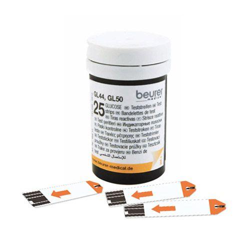 Set benzi de test glucoză pentru glucometru Beurer GL44 şi GL50, 50 buc.