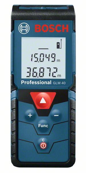 Telemetru profesional cu laser Bosch GLM, 40 m