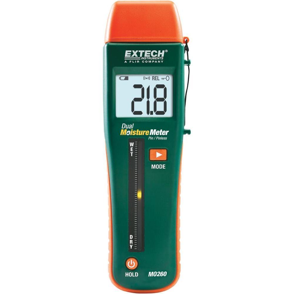 Umidometru non-contact/cu pini pentru lemn şi materiale, Extech MO260