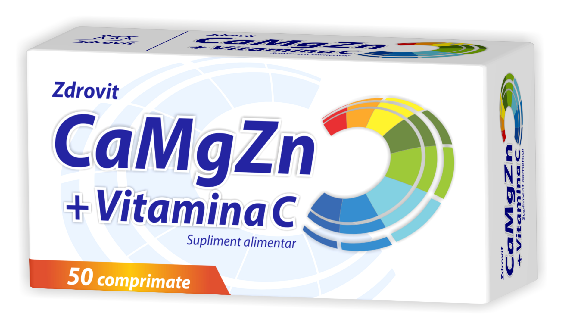 Ca + Mg + Zn şi Vitamina C Forte, Zdrovit, 20 plicuri | coronatravel.ro
