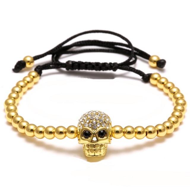 Brooks Gold Skull Zircon